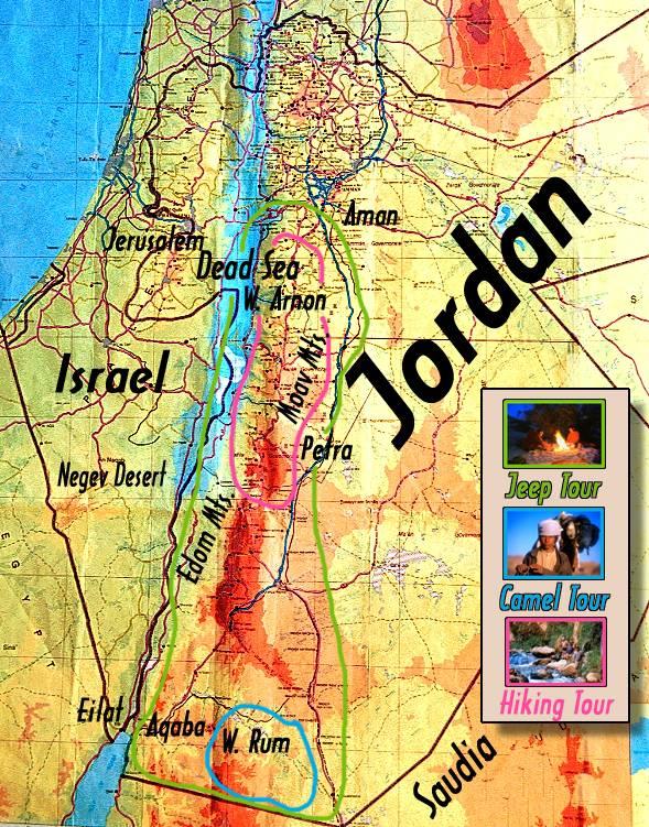 Carte Jordanie